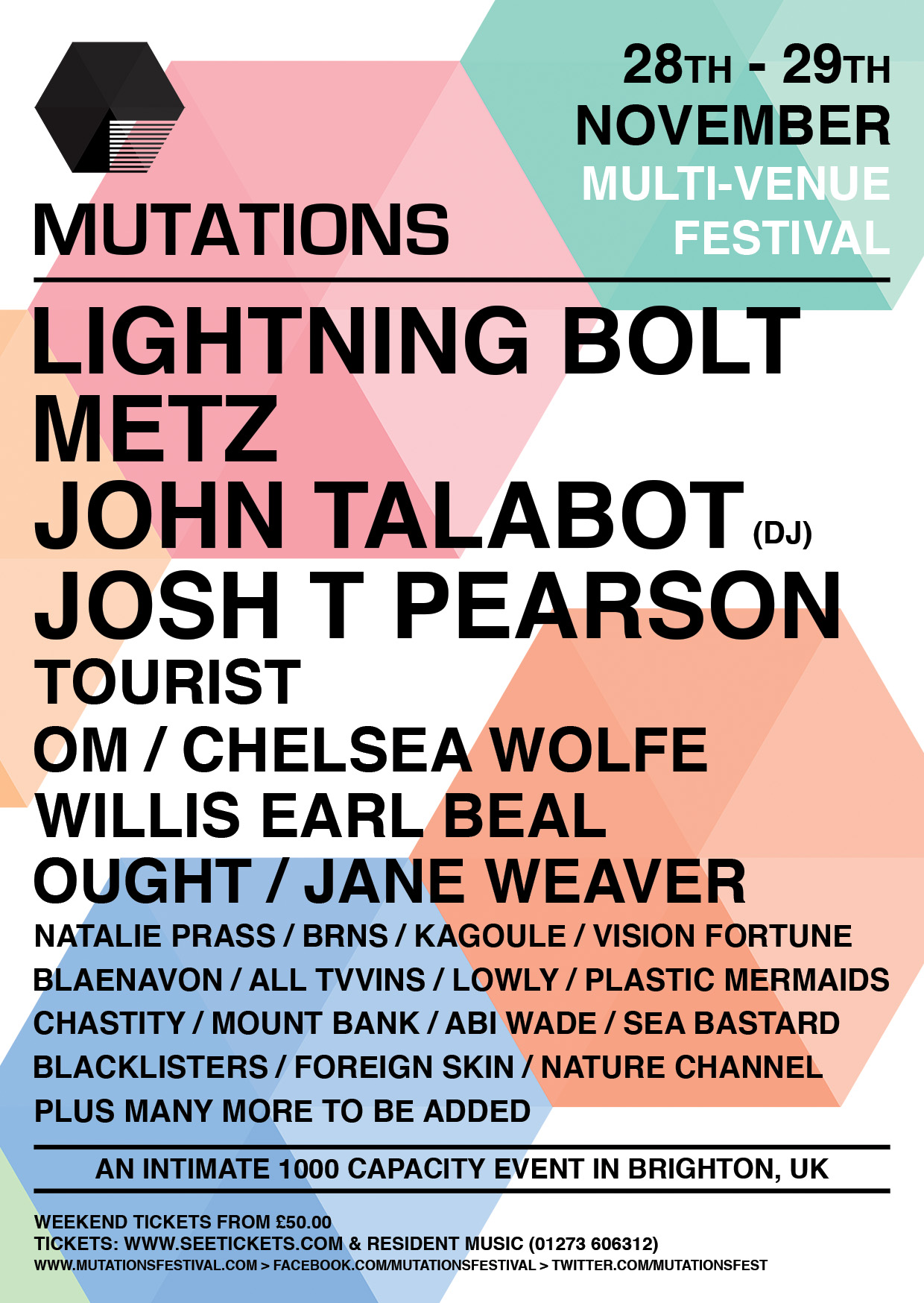chastity mutations festival tour poster