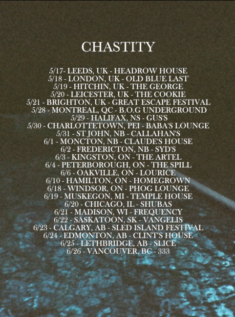 chastity spring tour 2016 poster