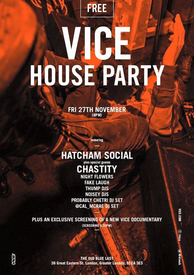 chastity vice party tour poster